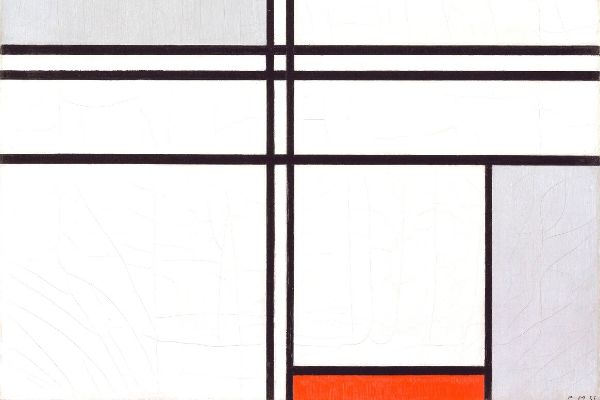 Piet Mondrian - Composition No.1 Gray-Red