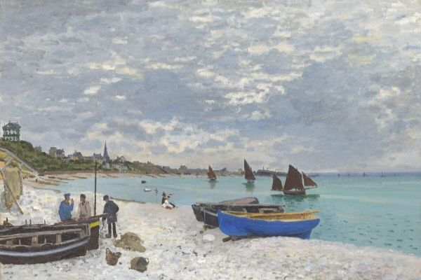Claude Monet -The Beach at Sainte-Adresse