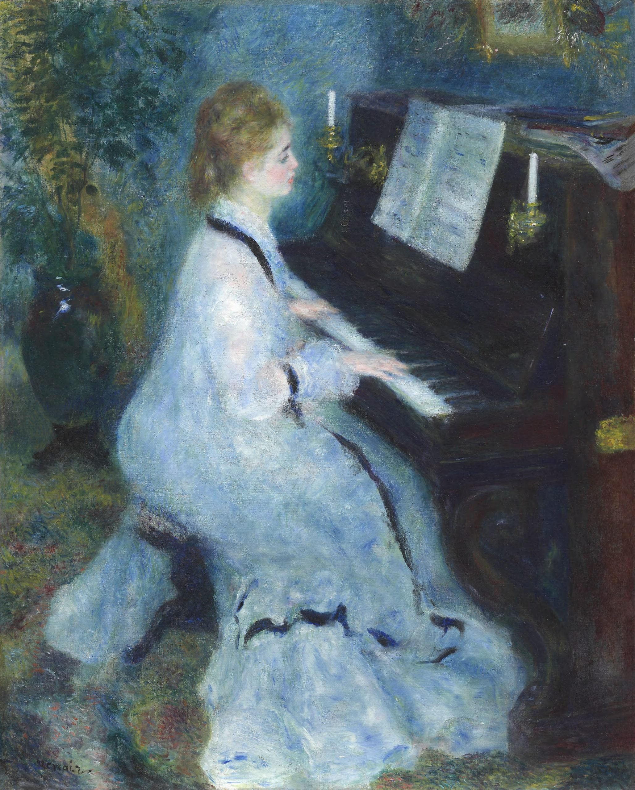 Pierre-Auguste Renoir - Woman at the Piano Art Gallery