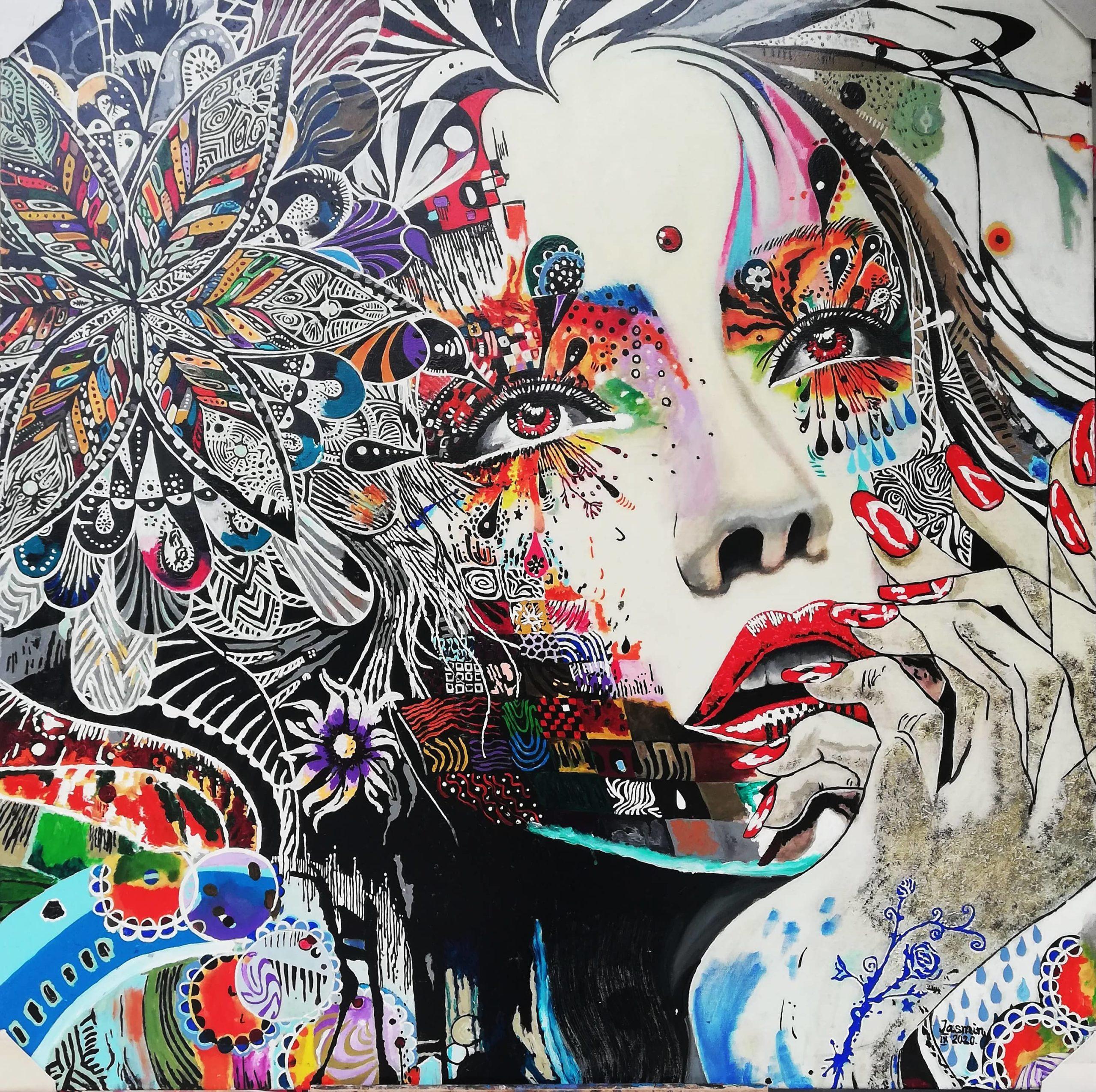obraz kobiety, graficzna inspiracja w stylu pop art