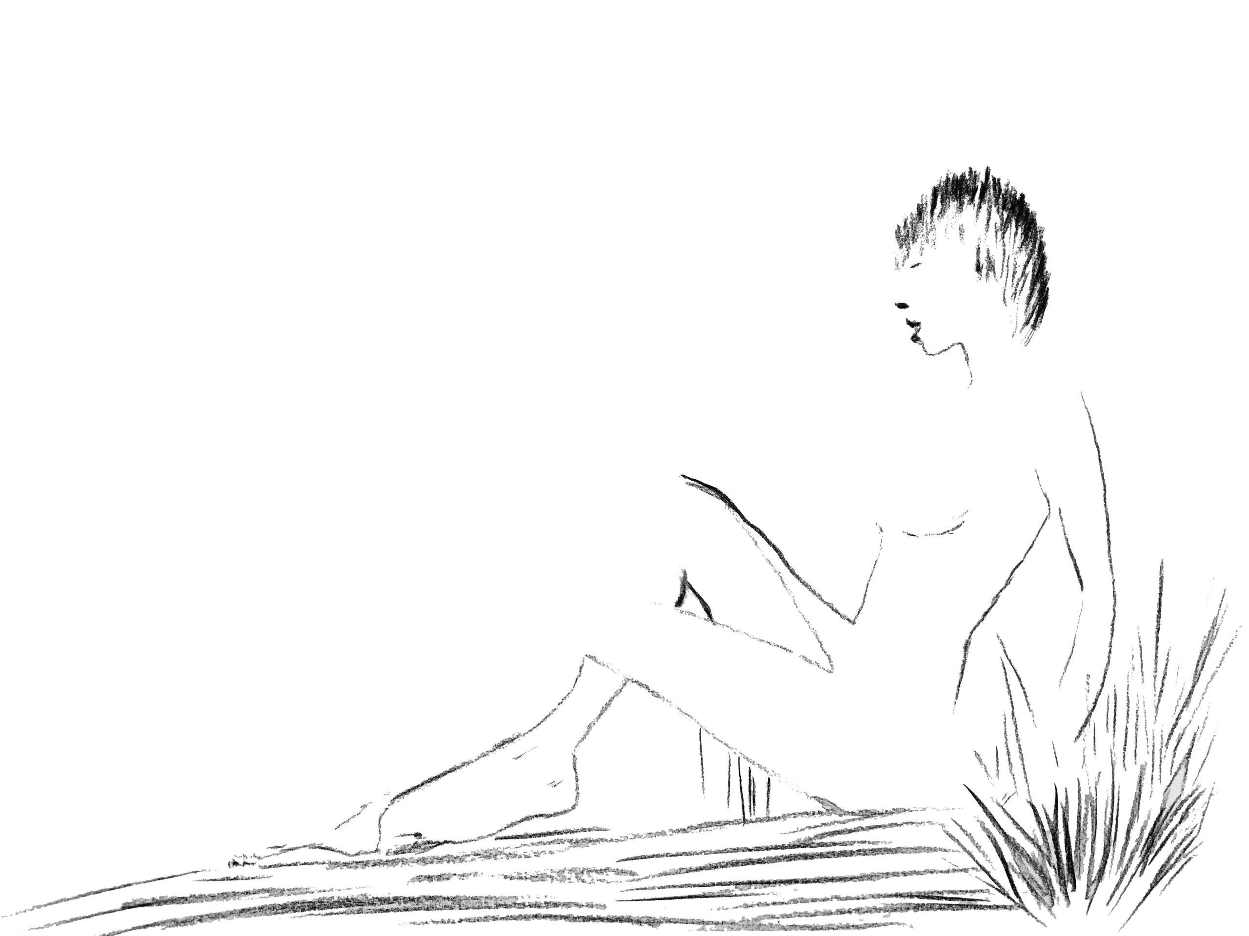 Kobieta na trawie by Taisa Katrynets viewon.art-min